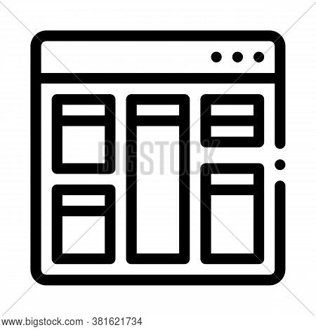 Web Site Layout Icon Vector. Web Site Layout Sign. Isolated Contour Symbol Illustration