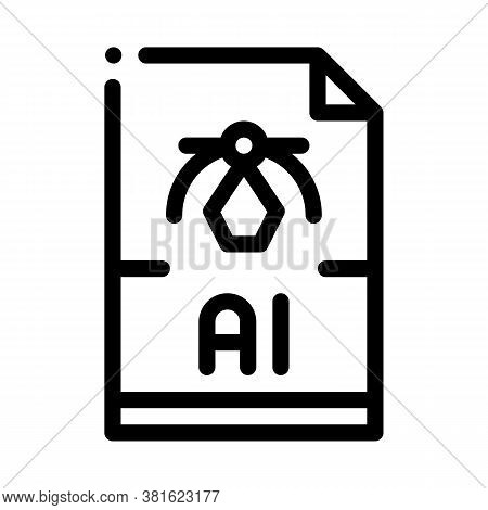 Ai Drawing Figure Icon Vector. Ai Drawing Figure Sign. Isolated Contour Symbol Illustration