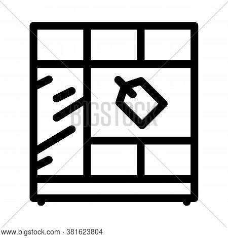 Cabinet Sell Icon Vector. Cabinet Sell Sign. Isolated Contour Symbol Illustration