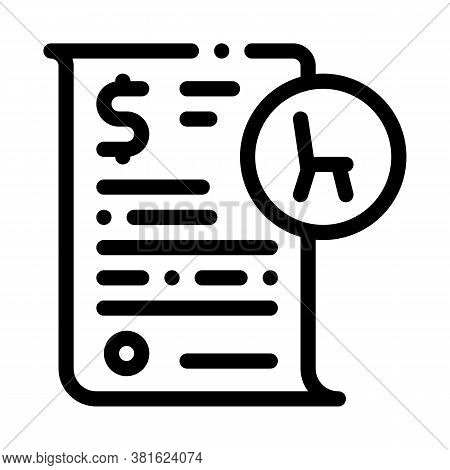 Buying Agreement Icon Vector. Buying Agreement Sign. Isolated Contour Symbol Illustration