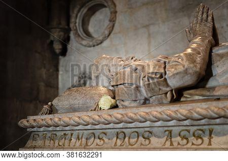 Lisbon, Portugal - February 3, 2019: Church Of Santa Maria Of Belem In Jeronimos Monastery, Lisbon,