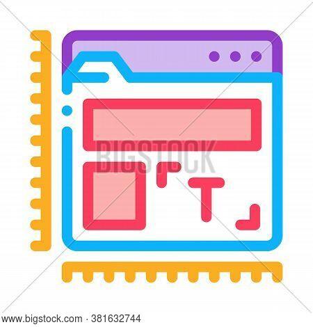 Creature And Design Web Site Icon Vector. Creature And Design Web Site Sign. Color Symbol Illustrati