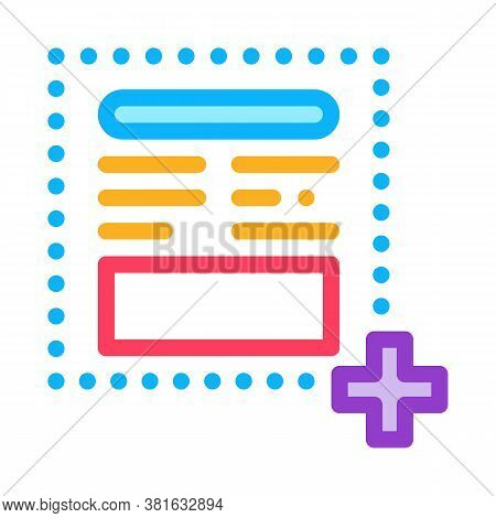 Add New Article On Web Site Icon Vector. Add New Article On Web Site Sign. Color Symbol Illustration