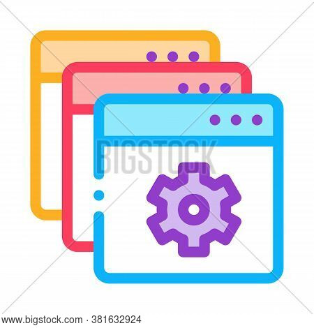 Web Site Settings Icon Vector. Web Site Settings Sign. Color Symbol Illustration