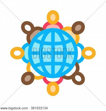 World Racial Tolerance Icon Vector. World Racial Tolerance Sign. Color Symbol Illustration
