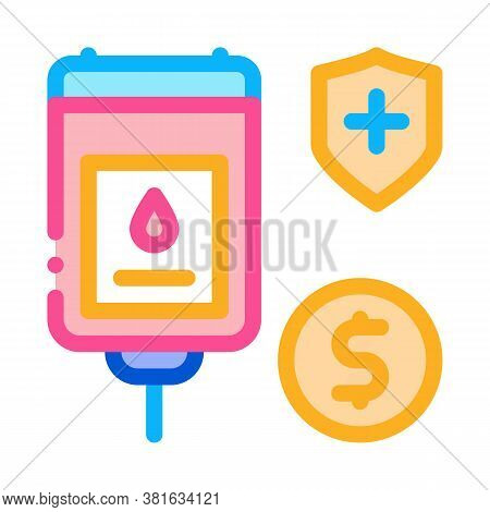 Blood Transfusion Icon Vector. Blood Transfusion Sign. Color Symbol Illustration