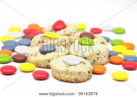 Biscuit Fillings With Chocolate Candies