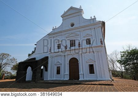 OLD GOA, INDIA - FEBRUARY 18, 2020: Chapel of Our Lady of the Mount, Old Goa, India