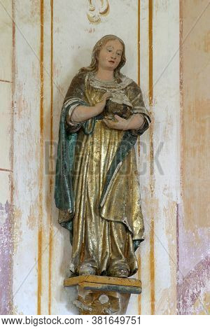 DESINIC, CROATIA - OCTOBER 18, 2013: Saint Mary Magdalene, statue in the chapel of Saint Anne in Desinic, Croatia