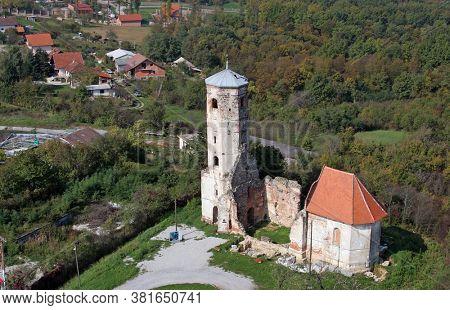Ruins of the medieval church of St. Martin in Martin Breg, Dugo Selo, Croatia