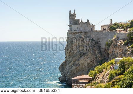 Swallow's Nest Castle In Gaspra, South Crimea