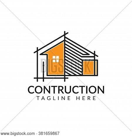 Architecture Logo Design, Vector Construction Company Brand Design Template. Architect And Construct
