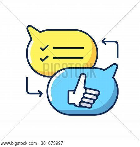 Criticism Rgb Color Icon. Communication Skills, Conversation. Opinions Exchange, Constructive Critic