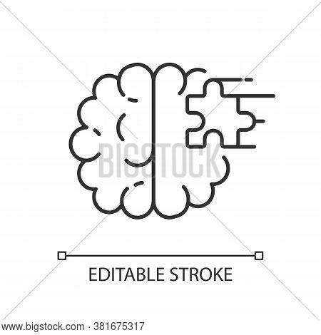 Psychiatric Ward Linear Icon. Mental Health Hospital. Psychiatric Hospital. Asylum. Psychiatrist. Th
