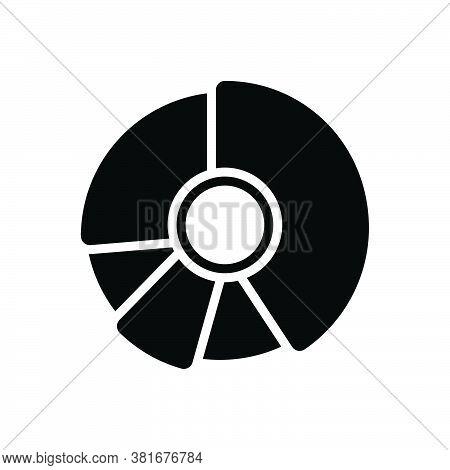 Black Solid Icon For Pie-chart Piechart Diagram Blueprint Layout Chart Profit Draft Circular Graph I