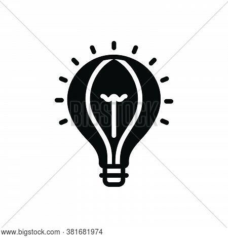 Black Solid Icon For Idea Conclusion Enterprising Visionary Concept Consideration Lelectric Creative