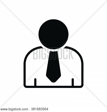 Black Solid Icon For User Customer Clientele Buyer Agent Avatar Profile Man Employee Person