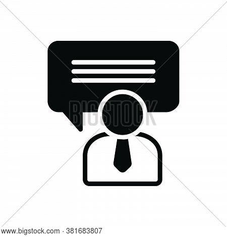 Black Solid Icon For Consulting Advising Consultatory Consultive Instructive Consultative Opinion Ad