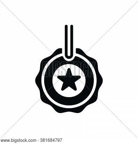 Black Solid Icon For Quality Property Merits Attribute Virtue Merit Superiority Excellence Transcend