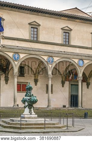 Ospedale Degli Innocenti (hospital Of The Innocents) Is A Historic Building In Florence, Italy.