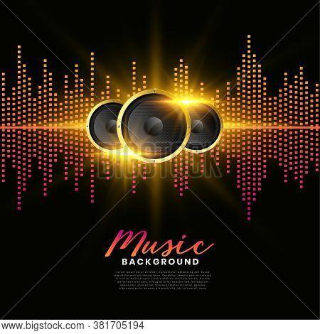 Music Speakers Background Album Cover Poster Vector Design Illustration