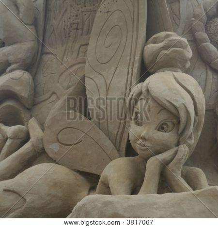 Sandsculpture Tinkerbell