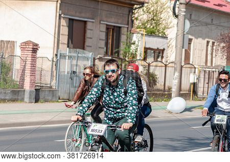 Timisoara, Romania - April 03, 2016: People Riding Their Bicycles At The Spring Pedaling Event