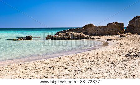 Elafonisi beach on the island of Crete