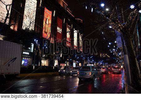 Shanghai, February 2019. Nanjing Road The Eastern Part Of Nanjing Road Is The Main Shopping Streets