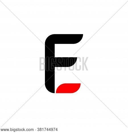 Initial Letter F And E, Fe, Ef Logo, Monogram Line Art Style Design Template