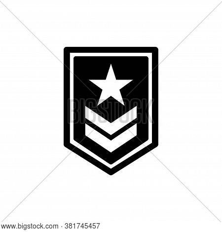 Rank On The Sleeve Icon. Element Of Military For Mobile Concept And Web Apps. Detailed Rank On The S