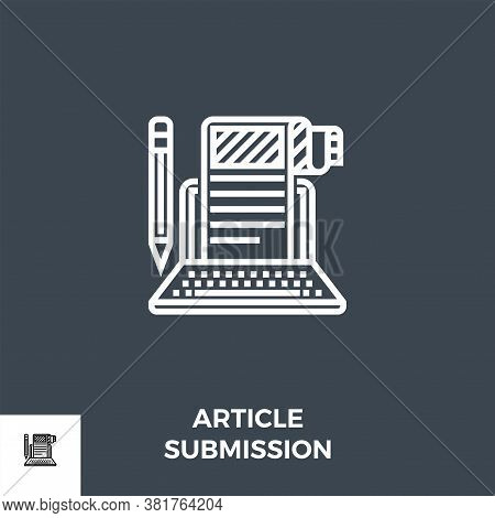 Article Submission Icon Vector. Related Vector Icon. Isolated On Black Background. Vector Illustrati
