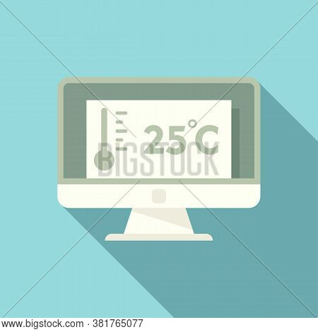 Pc Home Climate Control Icon. Flat Illustration Of Pc Home Climate Control Vector Icon For Web Desig