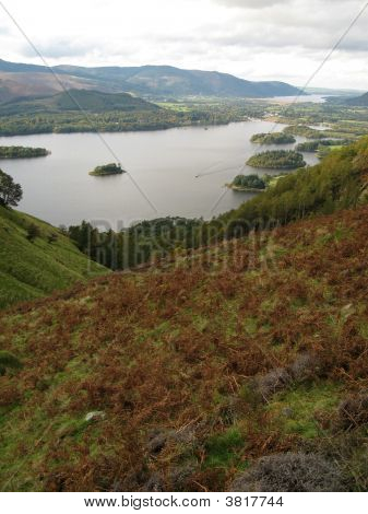 Derwentwater And Keswick From Above