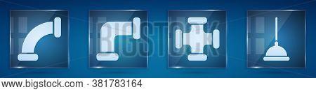Set Industry Metallic Pipe, Industry Metallic Pipe, Industry Metallic Pipe And Rubber Plunger. Squar