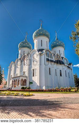 Holy Trinity-st. Sergius Lavra. Russian Russian Monastery Of The Trinity-sergius Lavra Is The Most I