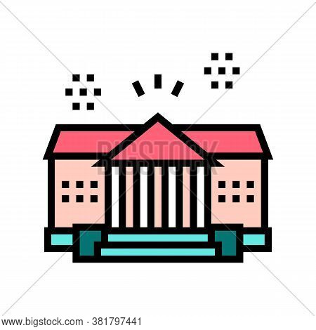 House Residence Color Icon Vector. House Residence Sign. Isolated Symbol Illustration