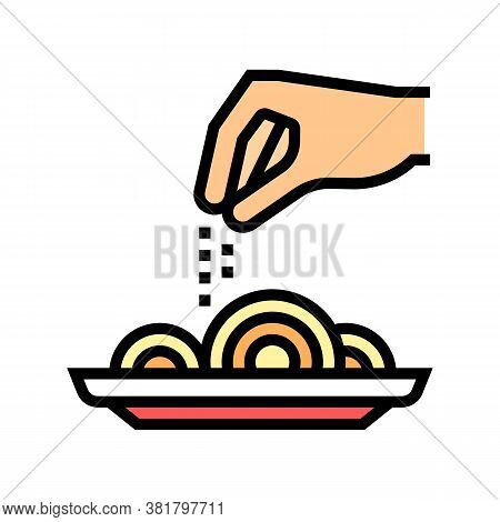 Flavoring Dish Color Icon Vector. Flavoring Dish Sign. Isolated Symbol Illustration