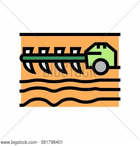 Agricultural Techincs Cultivator Color Icon Vector. Agricultural Techincs Cultivator Sign. Isolated