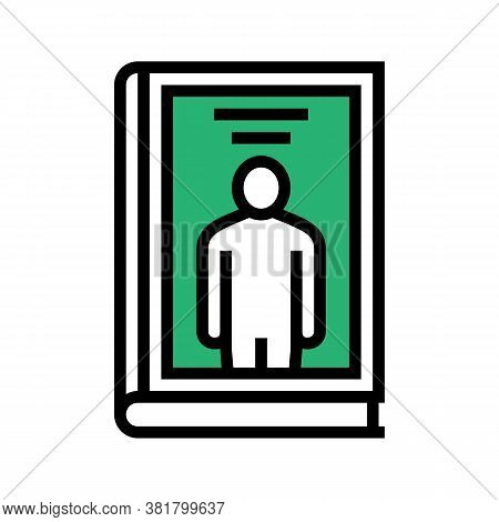 Biography Genre Color Icon Vector. Biography Genre Sign. Isolated Symbol Illustration