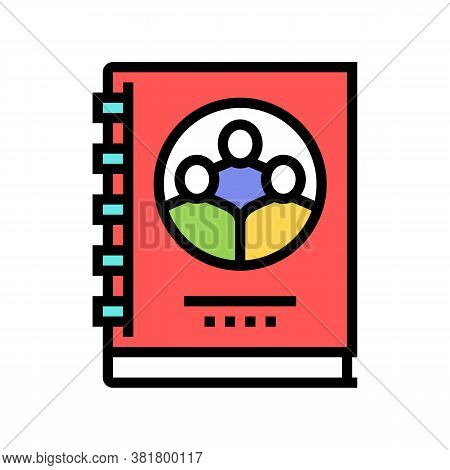Company Statute For Employees Color Icon Vector. Company Statute For Employees Sign. Isolated Symbol