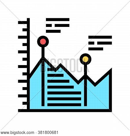 Analyzing Infographic Color Icon Vector. Analyzing Infographic Sign. Isolated Symbol Illustration