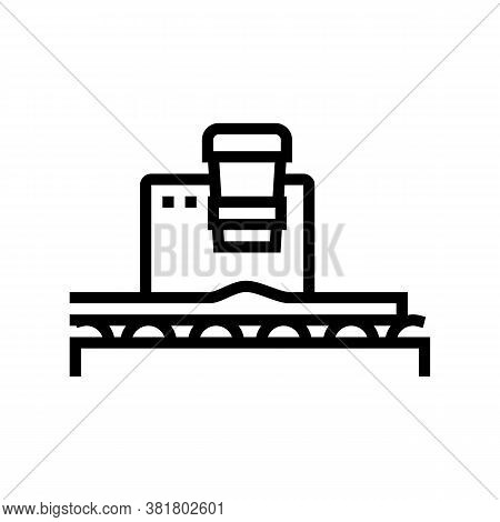 Plywood Press Line Icon Vector. Plywood Press Sign. Isolated Contour Symbol Black Illustration