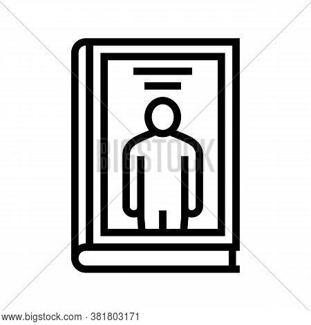 Biography Genre Line Icon Vector. Biography Genre Sign. Isolated Contour Symbol Black Illustration