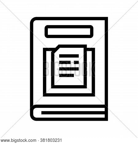 Nonfiction Genre Line Icon Vector. Nonfiction Genre Sign. Isolated Contour Symbol Black Illustration
