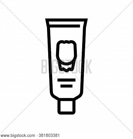 Toothpaste Tube Line Icon Vector. Toothpaste Tube Sign. Isolated Contour Symbol Black Illustration