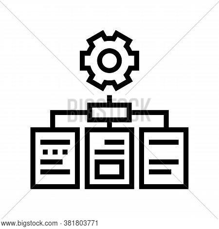 Analyzing Documents Line Icon Vector. Analyzing Documents Sign. Isolated Contour Symbol Black Illust