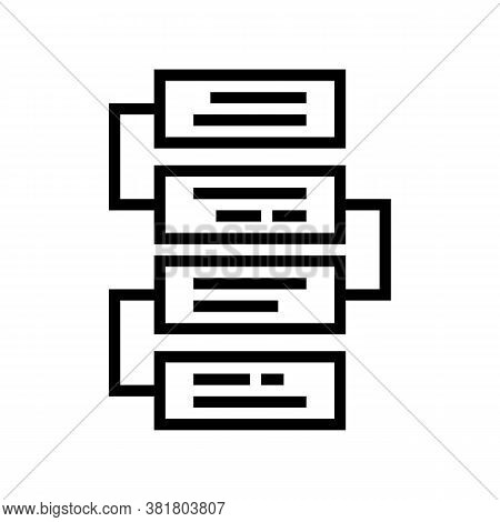 Job Working Steps And Tasks Line Icon Vector. Job Working Steps And Tasks Sign. Isolated Contour Sym