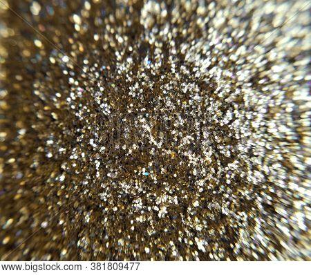 Gold Golden Eye Shadow Sparkle Metallic Shimmer Glitter Cosmetic Make-up Macro Photo