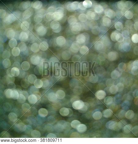 Green Eye Shadow Sparkle Metallic Shimmer Glitter Cosmetic Make-up Macro Photo Blurred Background